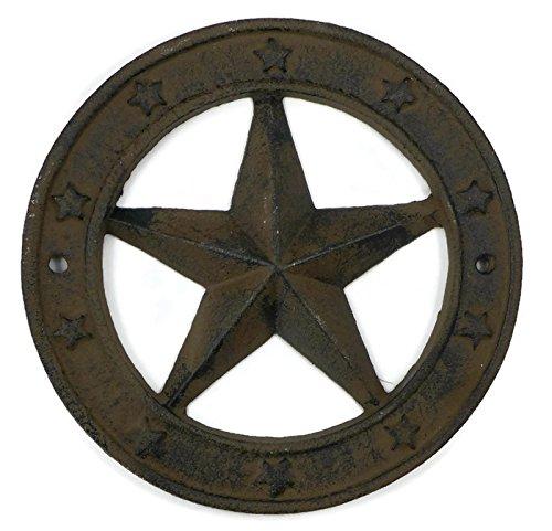 Cast Iron Texas Star Wall Plaque ()