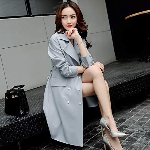 Long amp; Women'S Tether nbsp;Female SCOATWWH Grey Jacket Autumn Jackets Stylish Coats Women'S Windbreaker Taxi FxPBqBEa