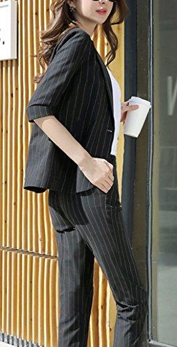 春 夏スーツレディース ストライプ 全3色 パンツ+ジャケット 通勤 フォーマル カジュアル スーツ おおきいサイズ