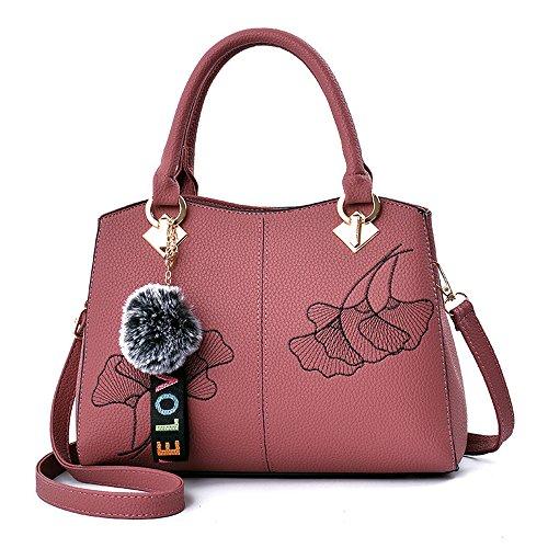 (JVPS 16-G) 2018 Nuevo bolso del bolso del bolso de la PU bolso de la manera bolso europeo y americano los 5 colores Caucho Rojo
