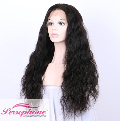 Persephone Glueless 200% Extra Heavy Density Body Wave 360 Lace Frontal Wigs Human Hair with Baby Hair Brazilian Remy Hair Lace Wig with Natural Hairline for Women Natural Color 20inches by Persephone (Image #1)