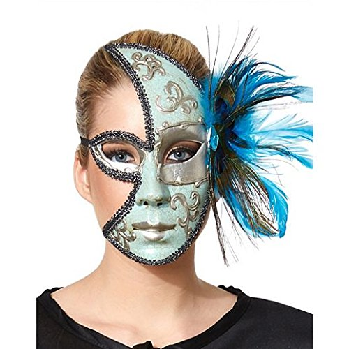 [Costume Beautiful Peacock Fea Red Masquerade Mask] (Good Couple Halloween Costumes)