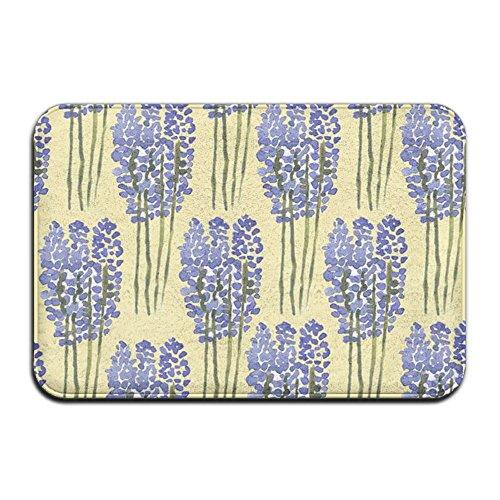 Texas Beverage Tub (Lavender Flowers Bathtub NonSlip Cute Dotted Non-slip Bottom Coral Velvet 15.7'' W?23.6'' L Non-shedding Rubber Door Mat Rectangular Doormat)