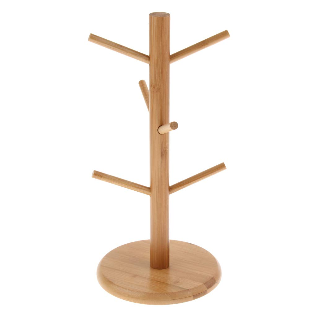 Non Brand Magideal Bambus Abnehmbar Tassenbaum Tassenhalter Tassen