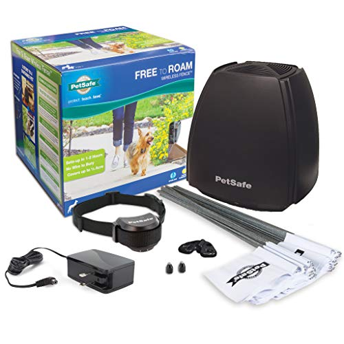 Dog and Cat Wireless Fence - Above Ground Electric Pet Fence - from The Parent Company of Invisible Fence Brand (Electronic Fence Cats)