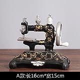 SQBJ Un único envío gratis Home Furnishing resina artesanía antigüedades trompeta antigua cámara fotográfica del ventilador…