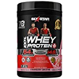 Whey Protein Powder   Six Star Whey Protein Plus   Whey Protein Isolate & Peptides   Lean Protein Powder for Muscle Gain   Muscle Builder for Men & Women   Strawberry, 2 lbs (package may vary)