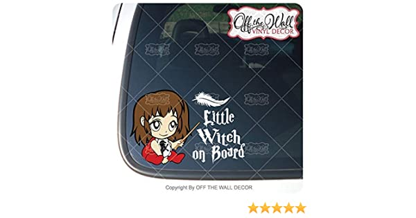 Baby HermioneLittle Witch on Board Sign Vinyl Decal Sticker for Cars//Trucks