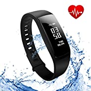 Gespert Fitness Tracker,Wireless Activity Tracker,Waterproof Smart Band Pedometer for Health Monitoring, Sports Tracking, Remote Self-Timer,Sleep Analysis etc