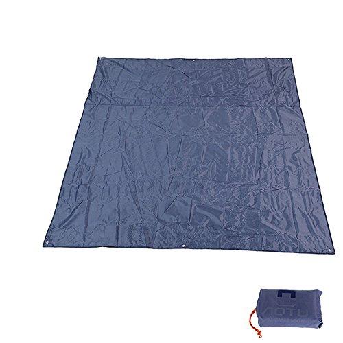 Winis 85x85 Waterproof Tarps Picnic Blanket Mat Camping Moisture Barrier Outdoor Mutifunctional Tent Tarp Footprint Ground Sheet Mat with Drawstring Carrying Bag(Gray)