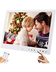 UCMDA Digital Photo Frame - 15.4 Inch Smart Digital Picture Frame with HD 1280*800 (16:9) IPS Display Screen, Support 1080P Video/Music/Picture Multi Mode Play, Photos Auto-Rotate/ Calendar/Clock/Remote Controller (15.4 inch)