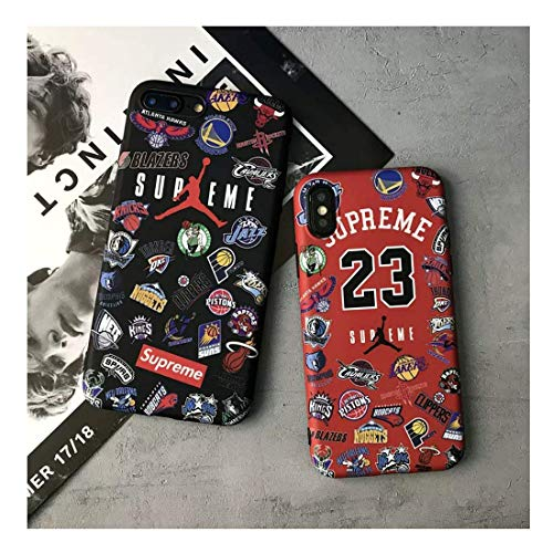 iPhone Series Protective Cases Street Fashion Team Logo Protector for iPhone XR, Black