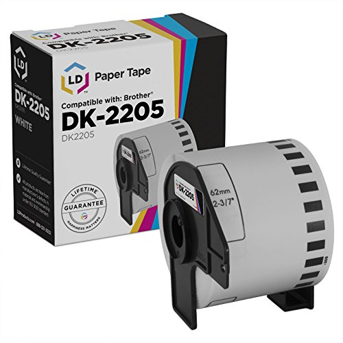 LD Compatible Brother DK 2205 White