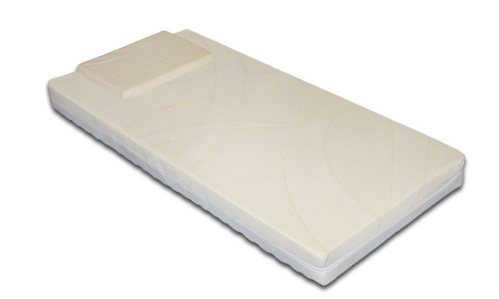 Bimbo - Matelas pour berceau/lit de bébé - Respirant avec revêtement déhoussable et lavable en machine à laver, avec oreiller respirant en hommage 60x120 Materassimemory.eu