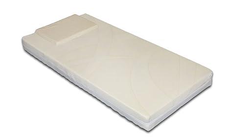 Colchón para cunas / camas infantiles. Modelo: BimboColchón antiasfixia con funda extraíble lavable en la lavadora. Almohada antiasfixia incluida 64x124: ...