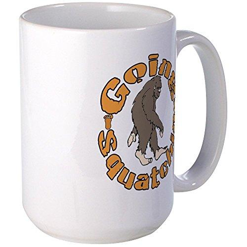 CafePress - Bigfoot Squatchin Large Mug - Coffee Mug, Large 15 oz. White Coffee Cup