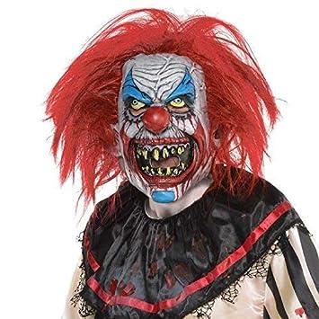 Fancy Me Adultos Splatter Killer Payaso máscara con Pelo Halloween Circo Carnaval Horror Terror Evil Izquierdo