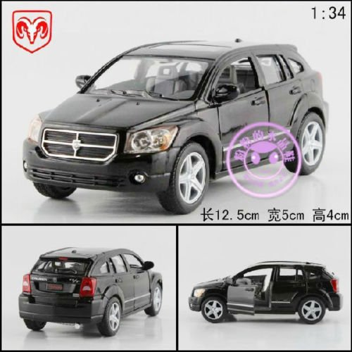 new-134-dodge-caliber-alloy-diecast-model-car-vehicle-toy-collection-black-b364