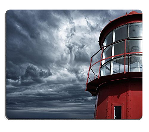 Liili Mouse Pad Natural Rubber Mousepad Lighthouse against stormy sky IMAGE ID - Lens Sale For Lighthouse