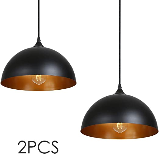 Metal Retro Suspensions 2 Pack Tomshine Luminaire Lampe Industriel