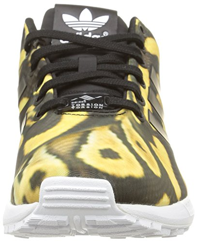 core Flux Zx White Baskets core Noir Basses Femme Black ftwr Black Adidas 7qgBTHB
