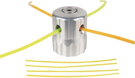 Cabezal multihilos Universal de Aluminio Tipo scarabeo con Tornillo inferior para desbrozadora y Clonación: Amazon.es: Jardín