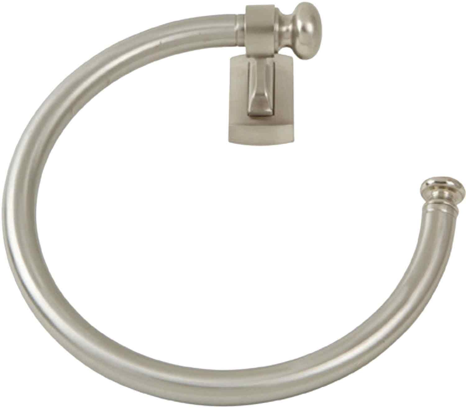 Atlas Homewares LGTR-BRN Legacy Collection 20cm Towel Ring, Brushed Nickel B00971YXQK