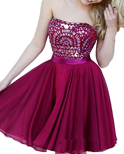 for Abendkleider 2016 Damen Kurz Heimkehr Burgundy Kleider Fanciest Ballkleid Juniors qE0P6w6O