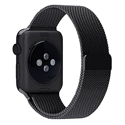 Apple Watch Series 2 Series 1 Band, Aokay 42mm Magnetic Milanese Loop Stainless Steel Bracelet Strap Replacement Wrist Band for Apple Watch Series 2 Series 1 (42mm)