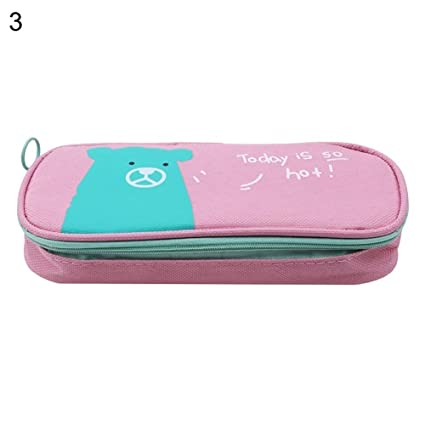 a19a77c890 TaLs9yLI Stationery Set Cartoon Cat Print Large Capacity Pencil Bag Zipper  Pouch Students Stationery: Amazon.in: Toys & Games