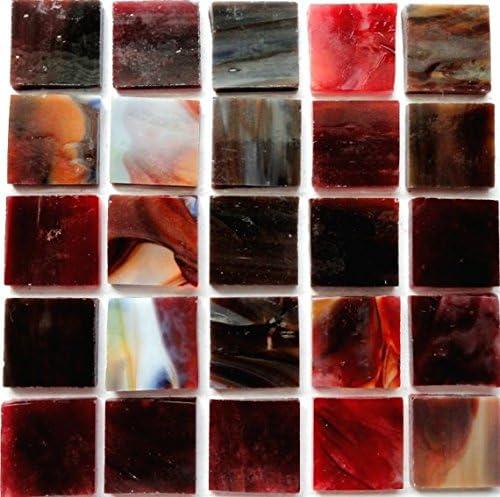 Vitreous Iridescent Mosaic Tiles 10mm Jet Black by Hobby Island Mosaics
