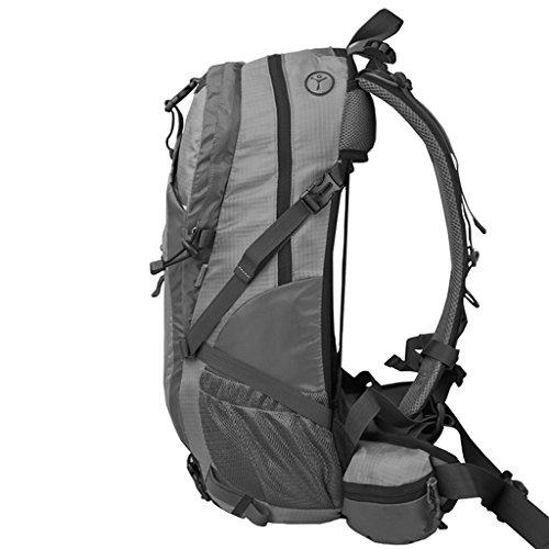 AMOS Al aire libre alpinismo bolso mochila hombres y mujeres viajes viajes bolsa de equipaje bolso 40L/50L litros Rojo