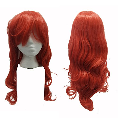 [Ariel The Little Mermaid / Jessica Rabbit Salon Quality Adult Costume Wig] (Little Mermaid Wig For Adults)