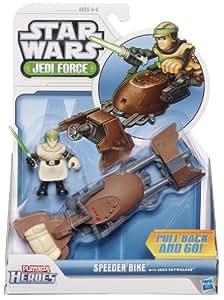 Playskool Heroes Star Wars Jedi Force - Speeder Bike con Luke Skywalker Figura de acción