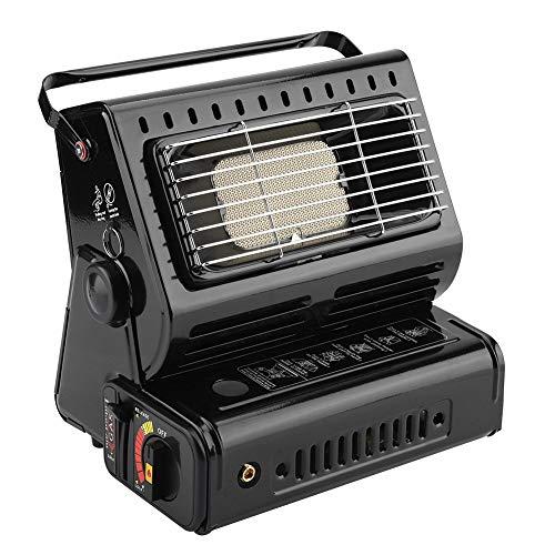 Calentador de Gas, EstufaPortátil, Estufa de Gas para Camping, Calentador de Gas Butano para Acampar y Al Aire Libre(Negro...