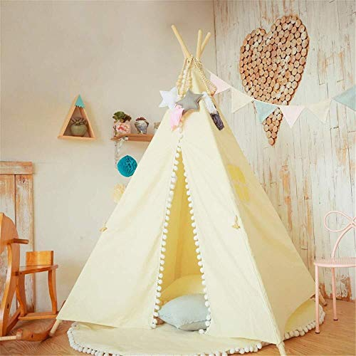 Child Teepee Wigwam Play Tent Children's Room Decoration Foldable Cotton Canvas Teepee Tent Photography Props Indian…