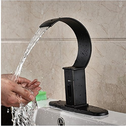 Gowe Oil Rubbed Bronze Finished Hands Free Bathroom Sink Automatic Sensor Faucet With Cover Plate 0