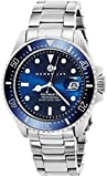 "Henry Jay Mens Stainless Steel ""Specialty Aquamaster"" Professional Dive..."