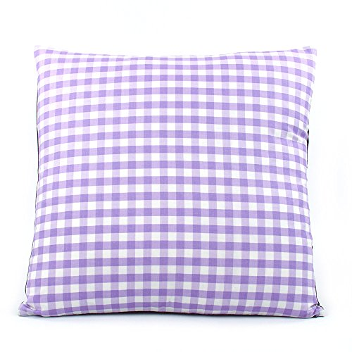 Denim Toss Pillow - Chloe and Olive Urban Gingham Lavender Collection - 20