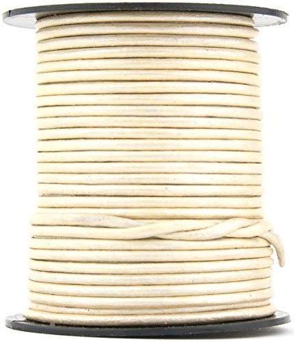 27 yards Xsotica® Brown Distressed Light Round Leather Cord 1mm 25 meters