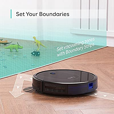 eufy BoostIQ RoboVac 30, Robot Vacuum Cleaner, Upgraded, Super-Thin, 1500Pa Strong Suction, 13 ft Boundary Strips Included, Quiet, Self-Charging Robotic Vacuum Cleaner, Cleans Hard Floors to Medium-
