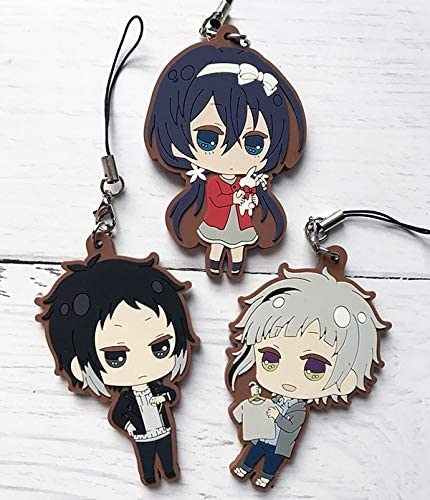 Anime Bungo Stray Dogs Dead Apple Rubber Strap Charm Keychain Daizai Osamu 2019