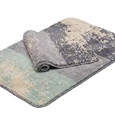 Feivea Set of 2 Non-Slip Machine Washable Bath Rugs Shaggy Soft Microfiber Ultra Absorbent Bathro...