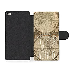 Citizen Of The World Travel Map Adventure Cool Style Design Faux Leather case for iPhone 6 Plus 6S Plus