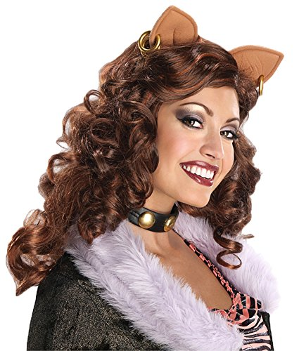 [Monster High Clawdeen Wolf Adult Wig Halloween Costume] (Clawdeen Wolf Costumes With Wig)