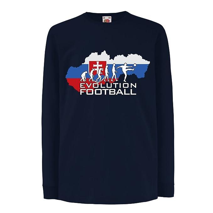 lepni.me Niños/Niñas Camiseta Evolución Fútbol - El Equipo Nacional de Fútbol de Eslovaquia: Amazon.es: Ropa y accesorios
