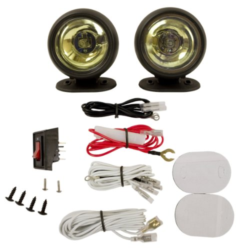 Blazer RE1088B Round Radiant Effects Driving Light Kit - Amber (Plastic Driving Light Kit)