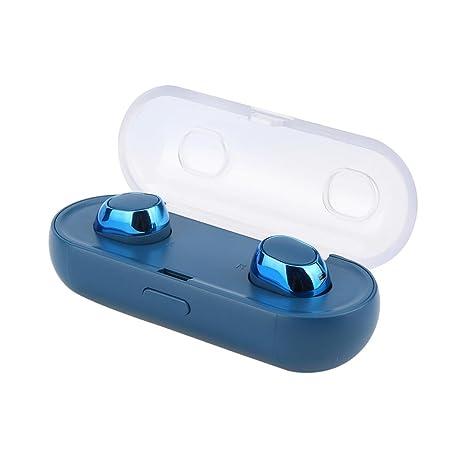 amh- Gemelos True Auriculares inalámbricos, Bluetooth 4.2 Mini In-Ear auriculares con cargador