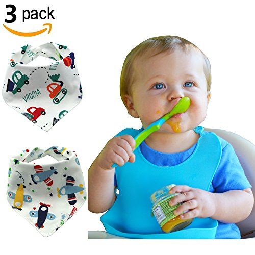 Healthy Home Waterproof Silicone Baby Bibs Easily Wipes Clean Soft