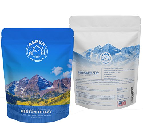 Foods Calcium - Food Grade Calcium Bentonite Clay - 2 LB Bentonite Montmorillonite Powder - Safe to Ingest for the Ultimate Internal Detox or Make a Clay Face Mask for the Best Natural Skin Healing Powder